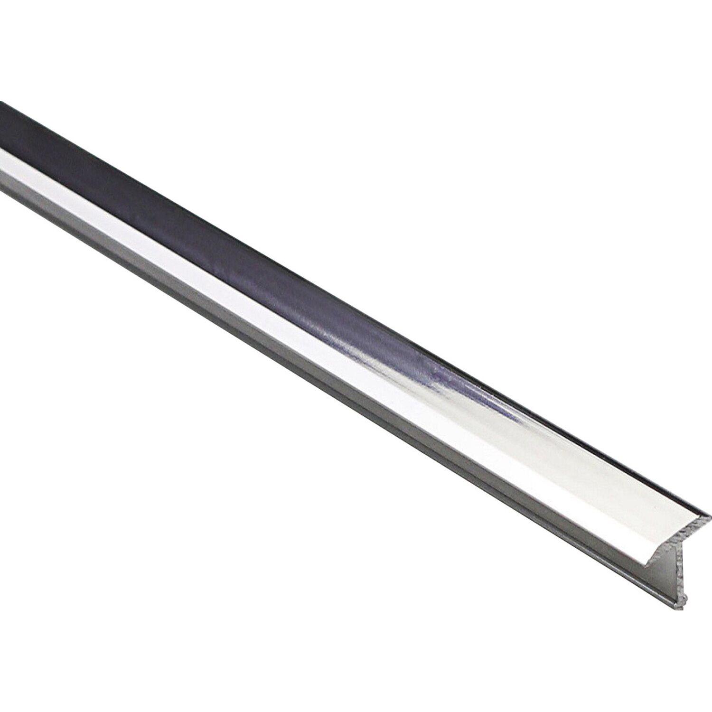 Porte In Alluminio Anodizzato profilo coprigiunto a t in alluminio anodizzato argento lucido 9 mm x 0,9 m