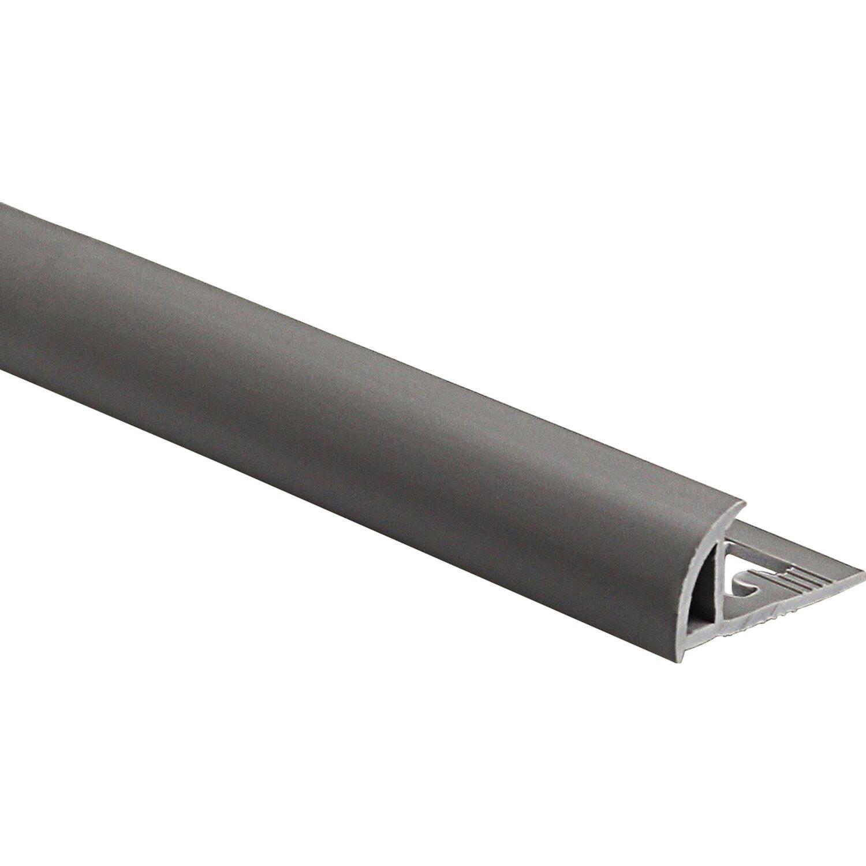 Profilo terminale a quarto di tondo in pvc opaco grigio for Finestre pvc obi