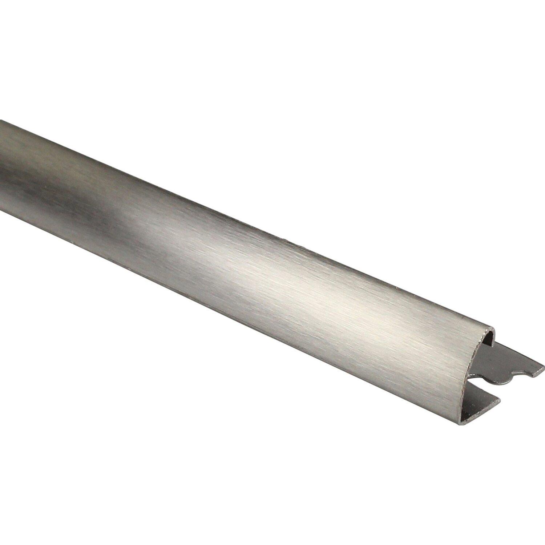 Profilo terminale quarto di tondo in acciaio inox - Piastrelle 10 x 10 ...