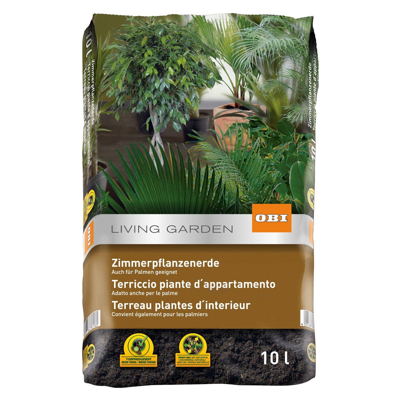 Terriccio Non Assorbe Acqua obi terriccio per piante da appartamento 10 l