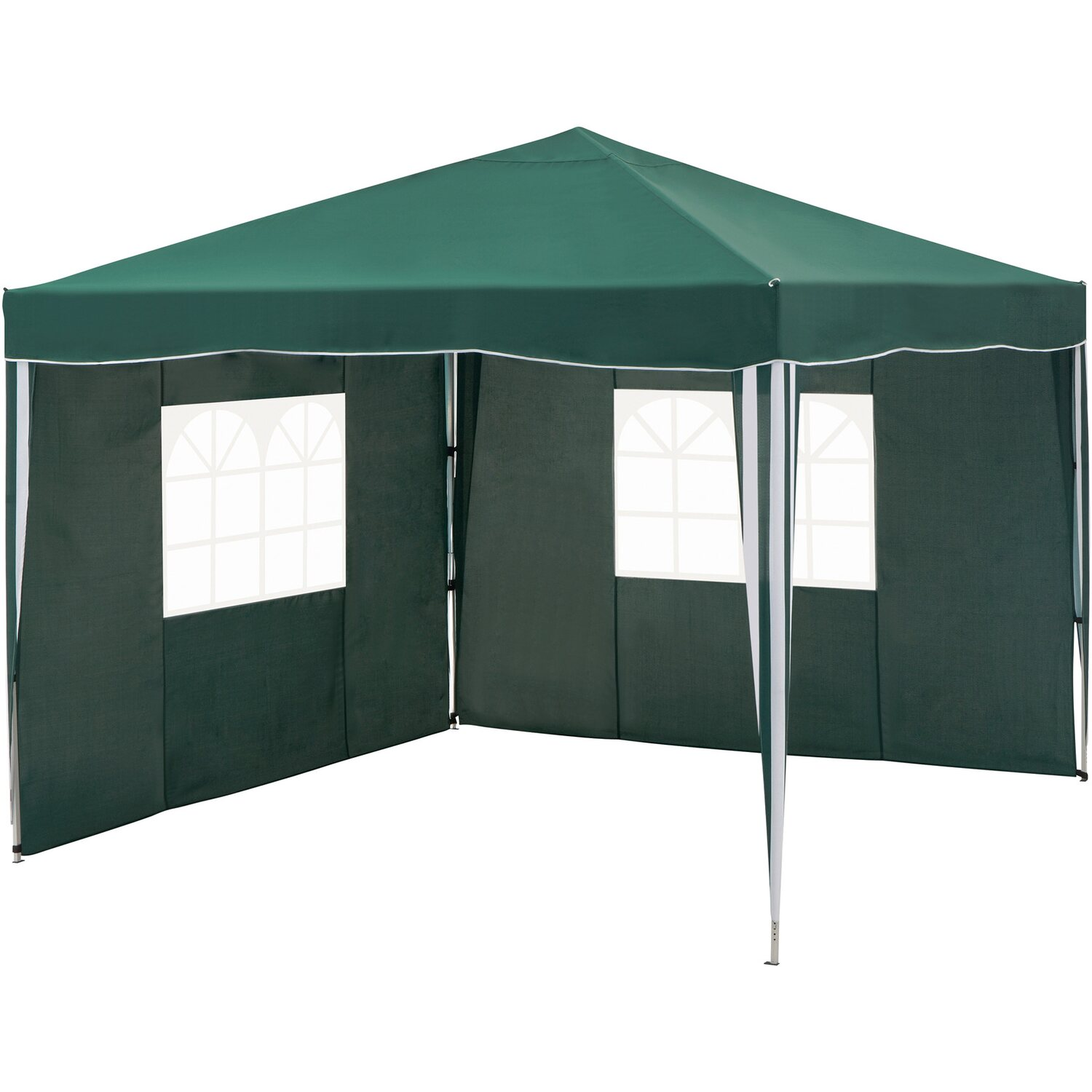 gazebo pieghevole in alluminio cmi verde 300 cm x 300 cm acquista da obi. Black Bedroom Furniture Sets. Home Design Ideas