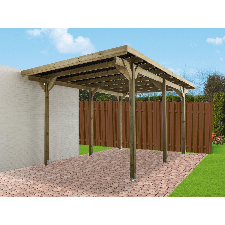 Luci Per Tettoia In Legno tettoia monoposto per auto con copertura piana in legno 300