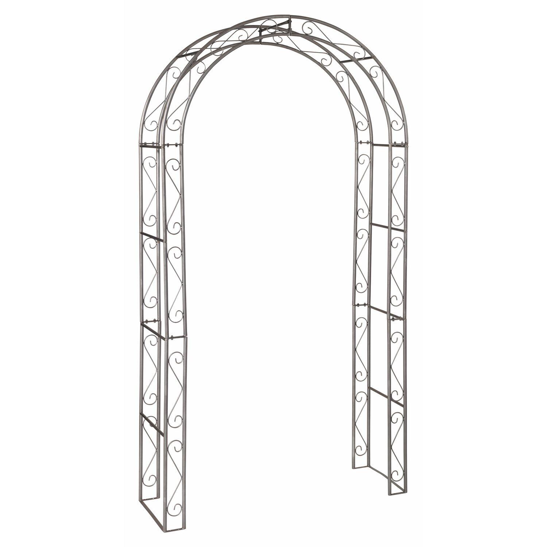 Tutori Per Rose Rampicanti obi arco da giardino preston grigio 230 cm