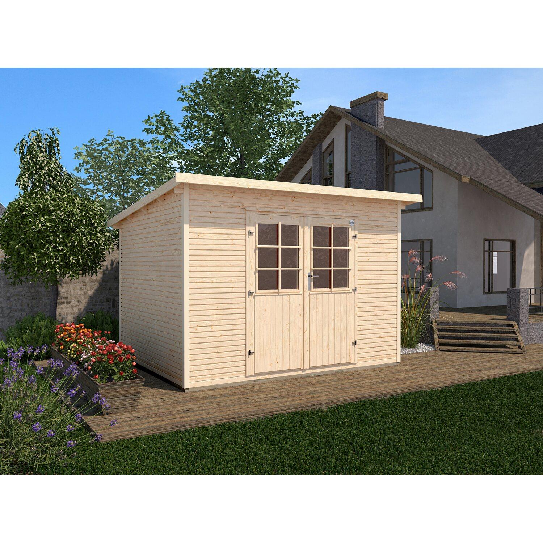 Casetta da giardino in legno 219 a 235 x 240 cm acquista for Casette legno obi