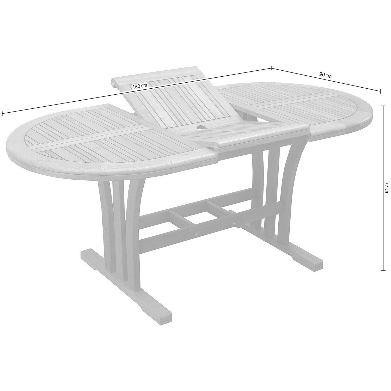 Obi tavolo estraibile chelsea 130 180 x 90 cm acquista for Obi tavoli giardino