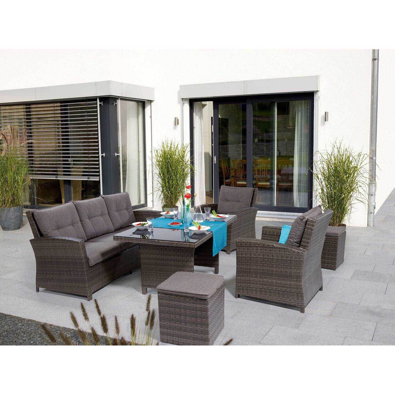 Obi set da giardino con tavolo e lettini vermont 6 pz for Set birreria offerta