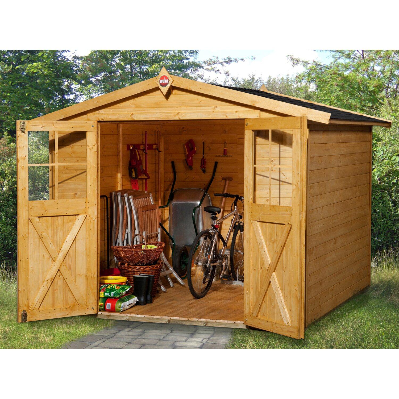 Casetta da giardino in legno parma b rovere chiaro for Casette legno obi