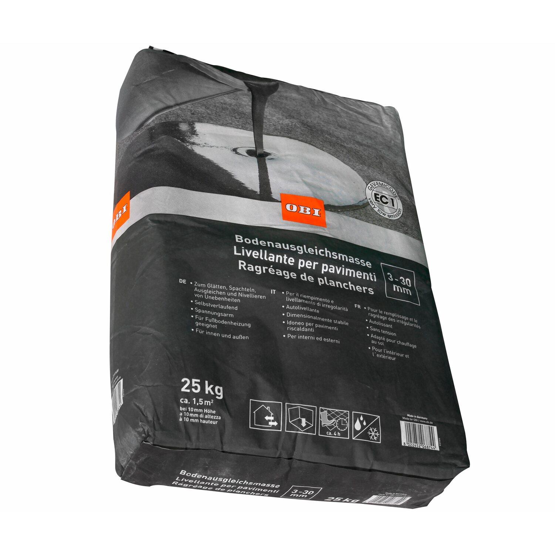 obi livellante per pavimenti 3 mm 30 mm grigio 25 kg. Black Bedroom Furniture Sets. Home Design Ideas