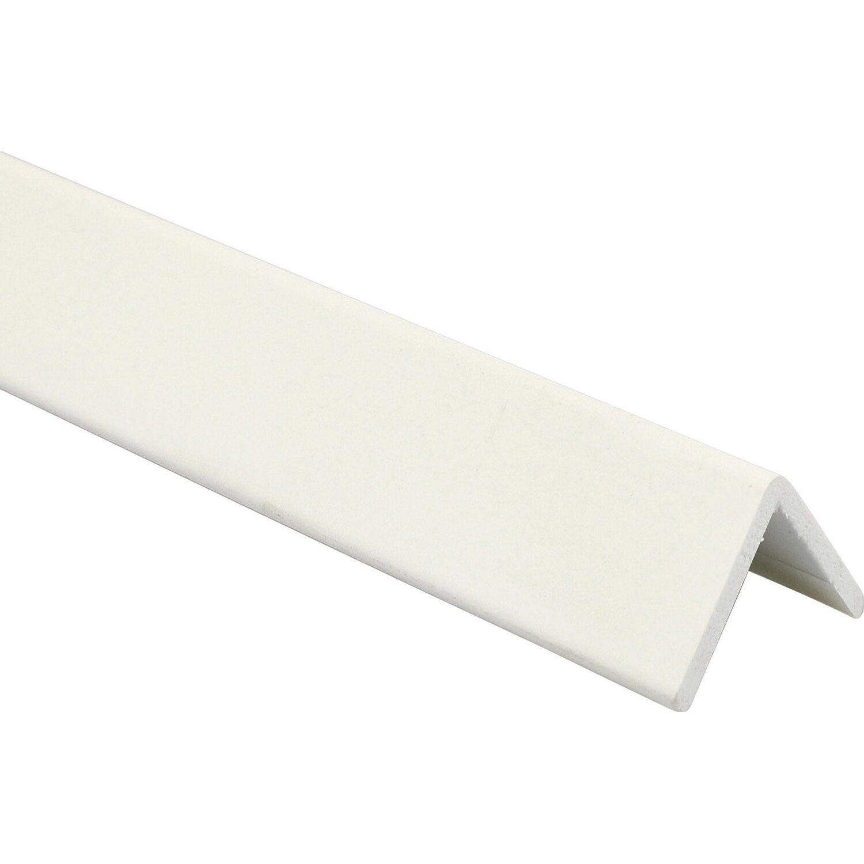 Profilo paraspigoli in pvc pellicolato bianco opaco 25 mm for Finestre pvc obi