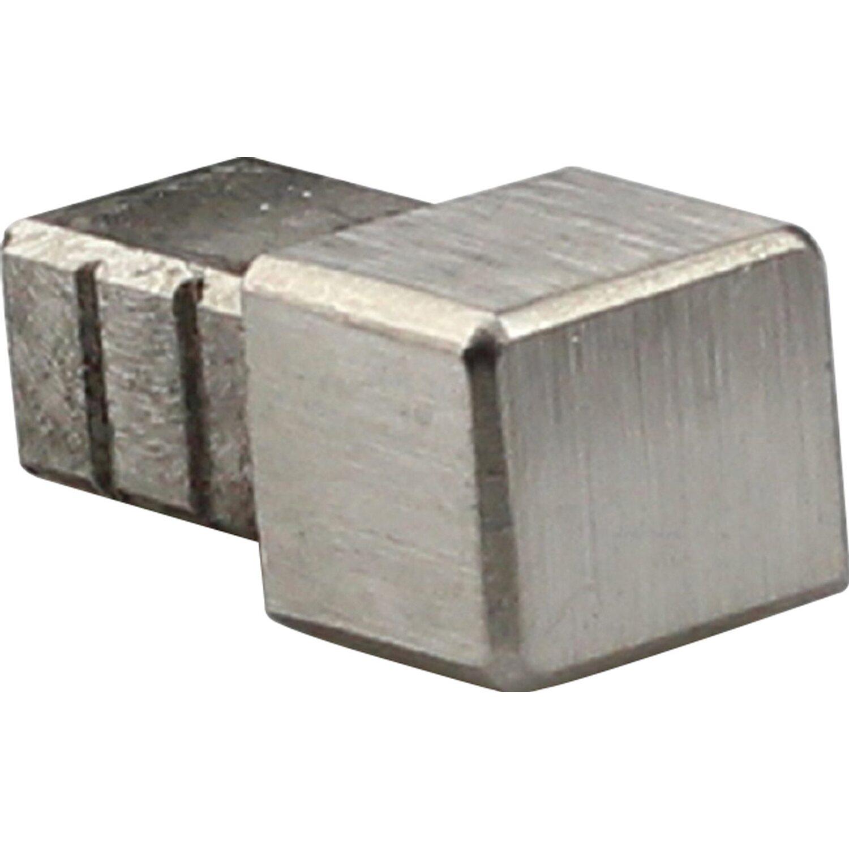 Profilo terminale quadrato angolare in acciaio inossidabile spazzolato 10 mm acquista da obi - Profili acciaio per piastrelle prezzi ...