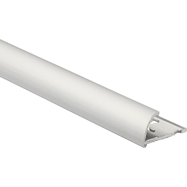 Quarto Di Tondo Legno.Profilo Terminale Quarto Di Tondo Alluminio Argento Opaco 10 Mm X
