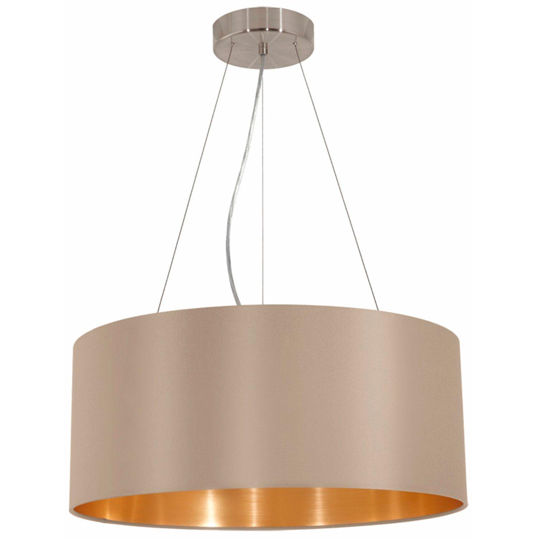 Lampada a sospensione maserlo 3 faretti color talpa for Obi illuminazione