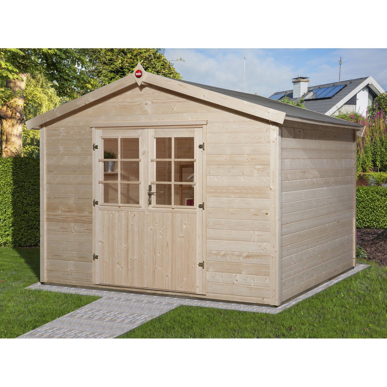 Casetta da giardino in legno ravenna d 300 x 295 cm for Casette in legno obi