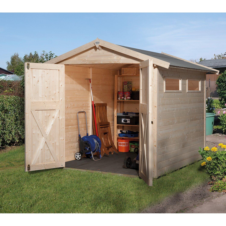 Casetta da giardino in legno obi kompakt c 198 x 194 cm for Casette legno obi