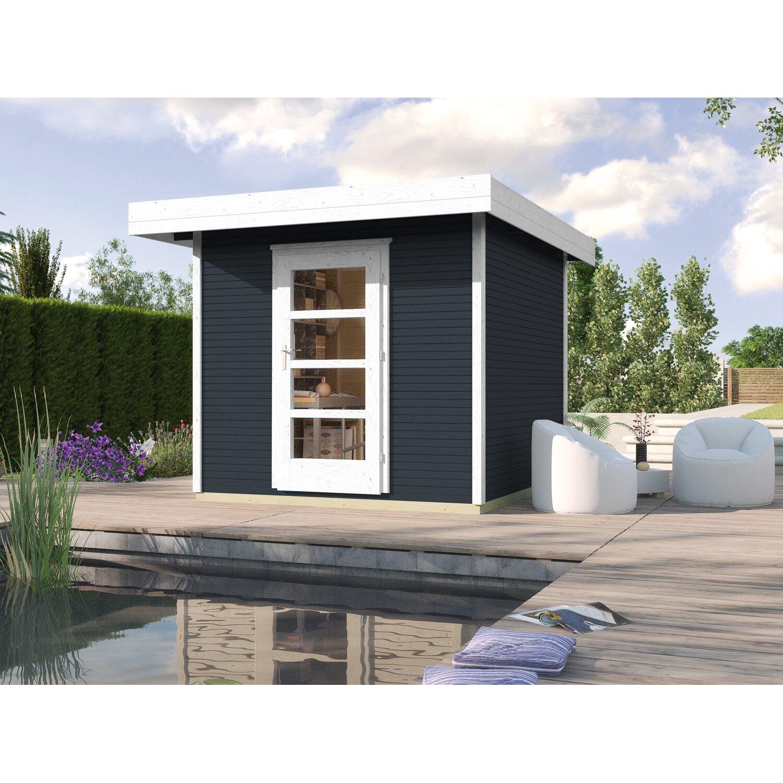 Casetta da giardino in legno line antracite 205 x 211 cm for Casette in legno obi