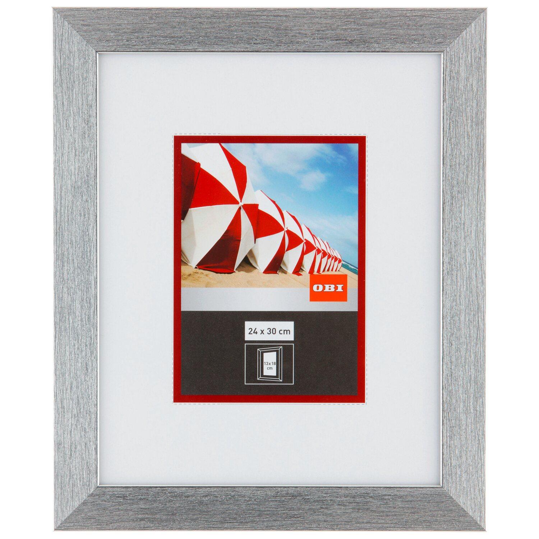 obi cornice in plastica 24 cm x 30 cm effetto argento metallico acquista da obi. Black Bedroom Furniture Sets. Home Design Ideas