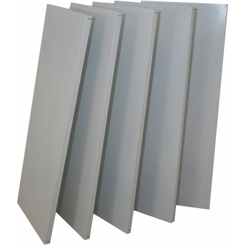 Obi scaffalatura a incastro in metallo zincato 195 x 100 x for Ikea scaffali in metallo
