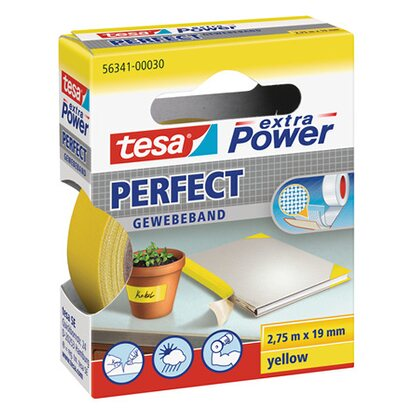 Tesa nastro telato Extra Power Perfect giallo 2,75 m x 19 mm