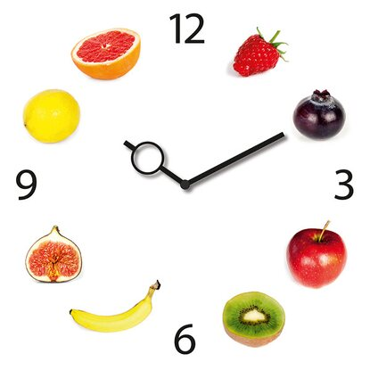Orologio da parete Time Art Fruit Clock 30 cm x 30 cm