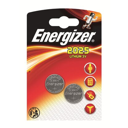 Energizer batteria a bottone litio CR 2025 2 pz