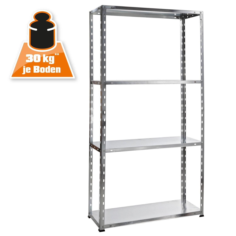 obi scaffale metallico a bulloni zincato 150 x 75 x 30 cm. Black Bedroom Furniture Sets. Home Design Ideas