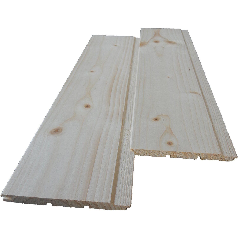Perlina in abete di prima scelta 10 mm x 100 mm x 2000 mm for Travi finto legno obi