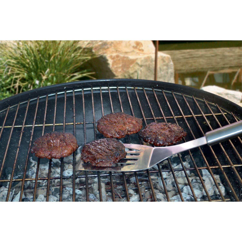 Jamestown grill set pinza forchetta e spatola in acciaio for Barbecue in muratura obi