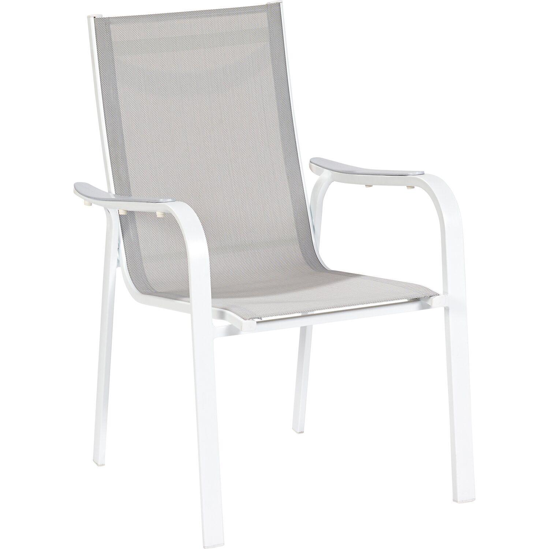 obi sedia impilabile princeton alluminio tessuto acquista