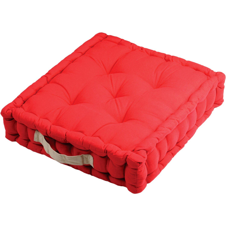 Cuscini Futon.Cuscino Futon Serie Duo 100 Cotone 45 Cm X 45 Cm X 10 Cm Rosso