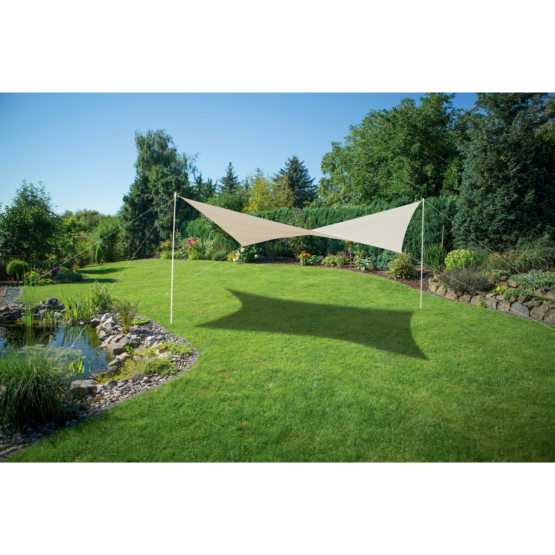 Vela Triangolare Da Giardino vela da giardino quadrata 400 cm x 400 cm avorio