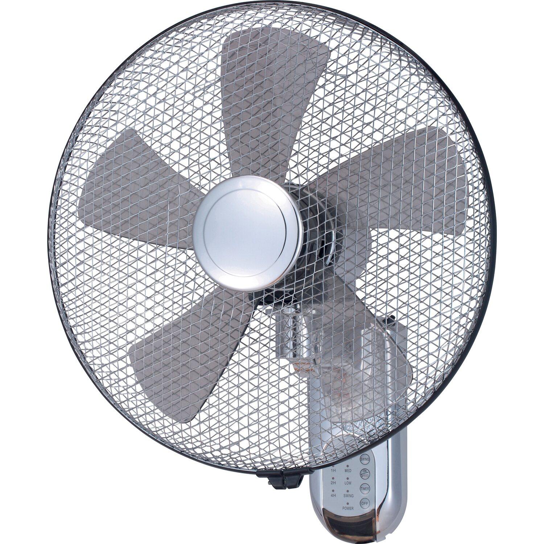 Ventilatore da parete con telecomando e timer 40 cm - Ventilatore da parete ...