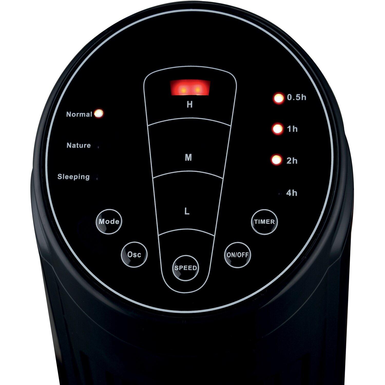 Ventilatore tower con telecomando 100 cm nero acquista da obi for Ventilatori da soffitto obi