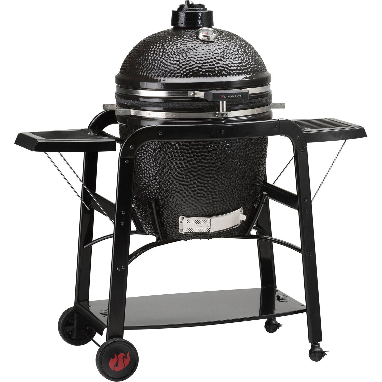 Landmann barbecue forno in ceramica nero acquista da obi for Barbecue in muratura obi