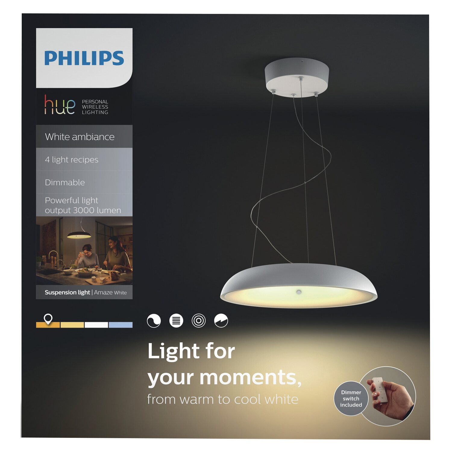 Philips Hue lampadario a sospensione LED Amaze