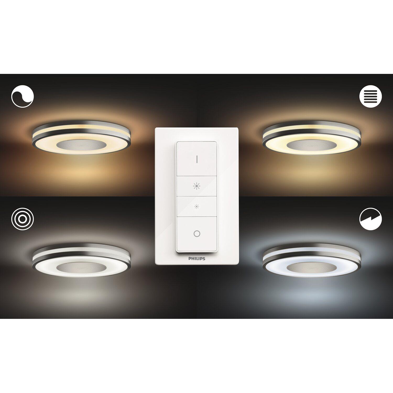 Accensione Lampadario Con Telecomando philips hue plafoniera bianca led being con telecomando dimmer switch