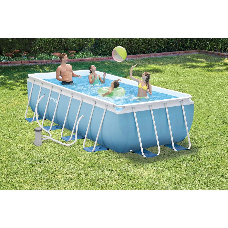 intex piscina prisma metal frame 400 cm x 200 cm x 100 cm. Black Bedroom Furniture Sets. Home Design Ideas