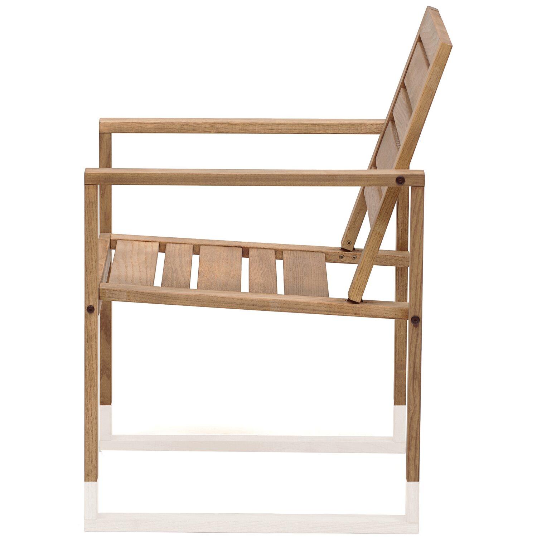 Poltrona da esterno serie Noah in legno di robinia oliata ...