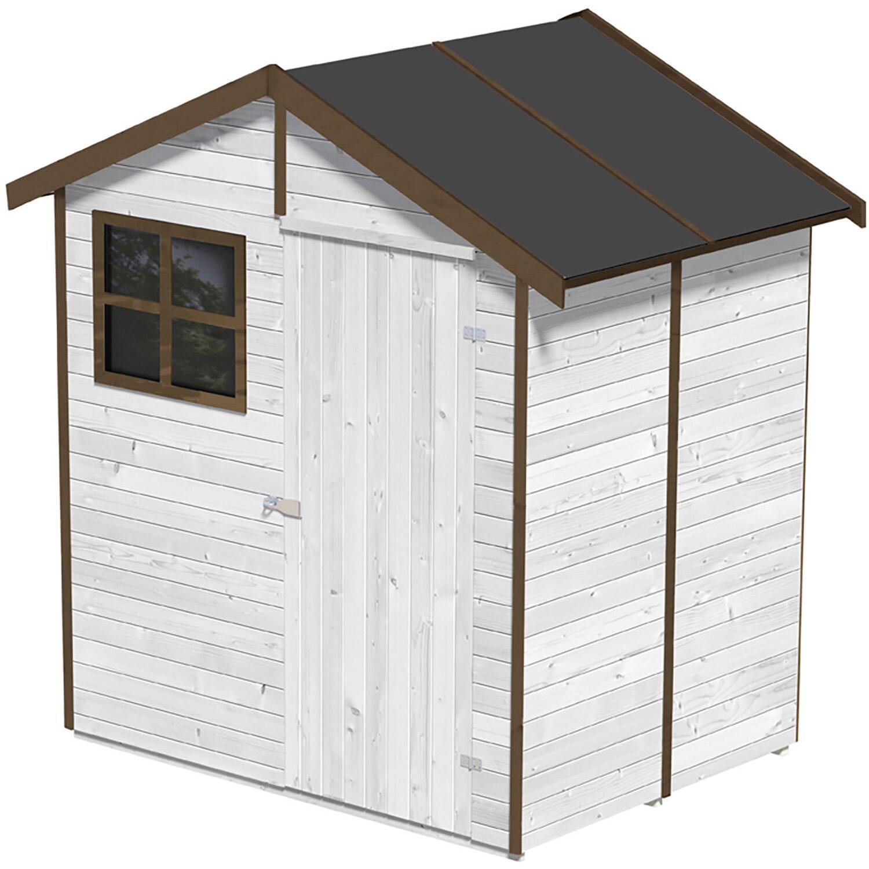 Casetta portofino color bianco acquista da obi for Obi casette in legno