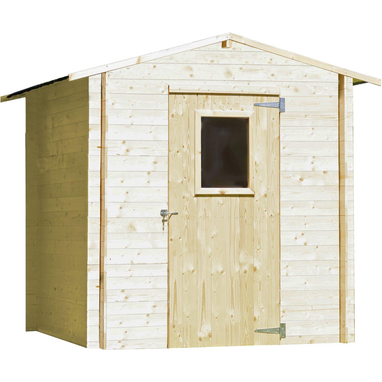 Casetta regis in legno di abete color noce acquista da obi for Obi casette in legno