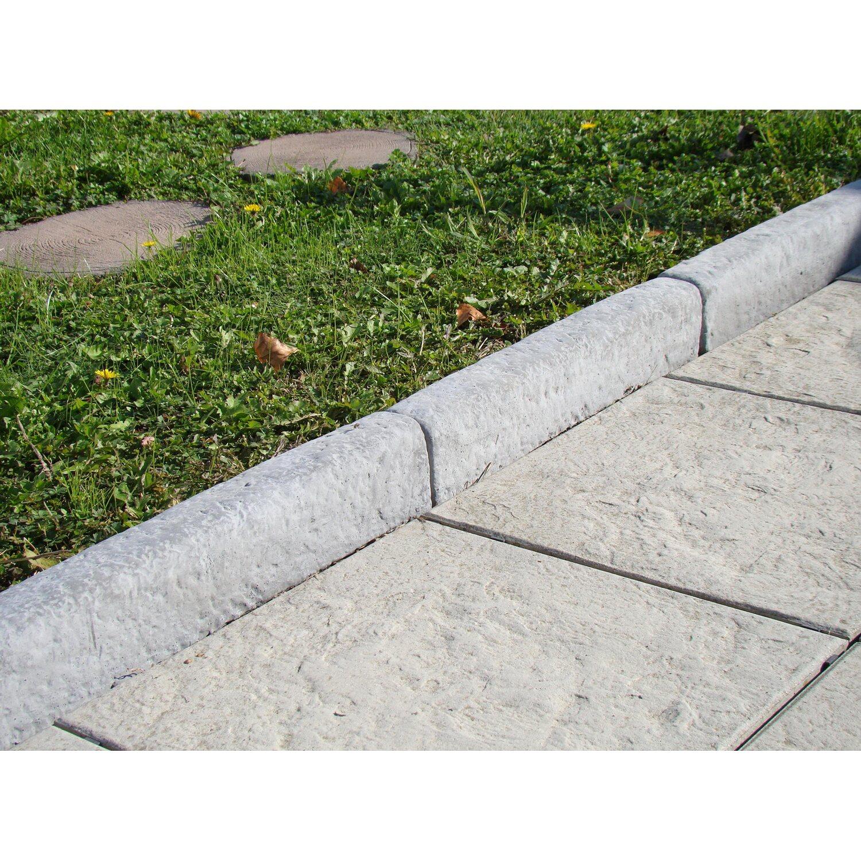 Vialetti In Pietra Prezzi cordolo classico dritto in pietra ricostruita grigio | obi