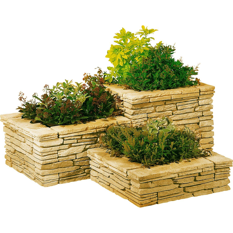 Blocco z giallo madrid in pietra ricostruita gialla - Muretti per giardino ...