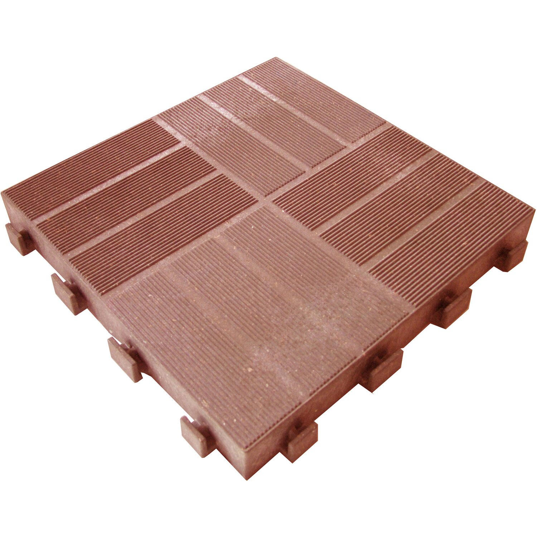 Piastrella da esterno in legno e hdpe cotto acquista da obi - Piastrelle in legno da esterno ...