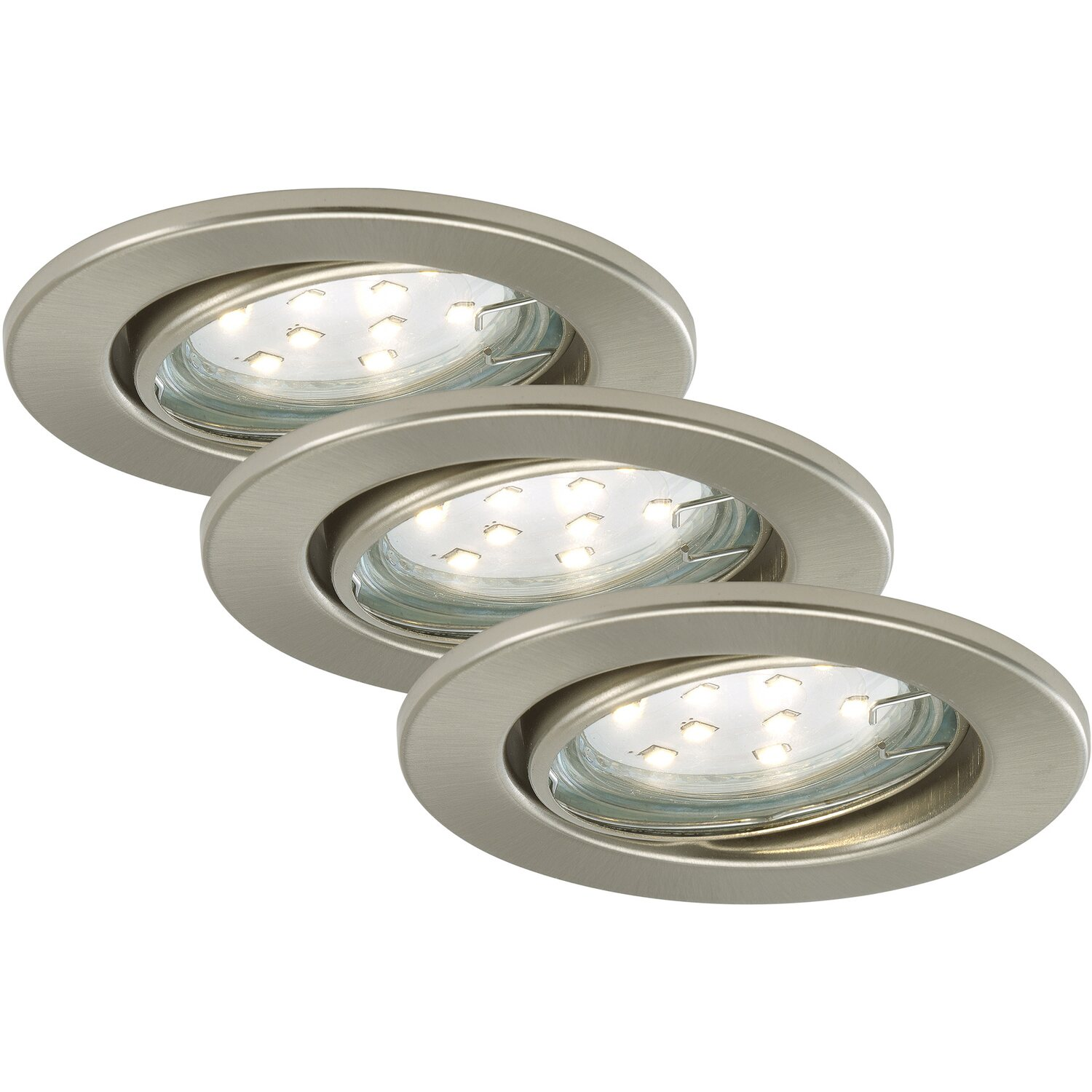 Set faretti ad incasso led 3 pz nickel acquista da obi for Obi illuminazione