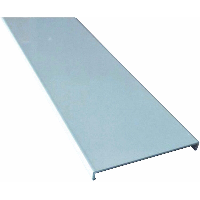 Pareti In Vetrocemento Prezzi profilo terminale coverglass alluminio bianco quadro 1 m