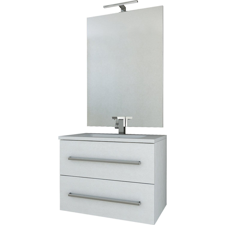 Catalogo Obi Mobili Bagno.Composizione Marquee 74 Cm Frassino Bianco