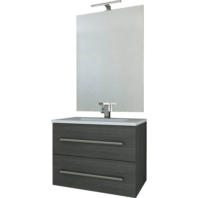 Composizione marquee 74 cm grigio scuro venato acquista da obi for Obi accessori bagno