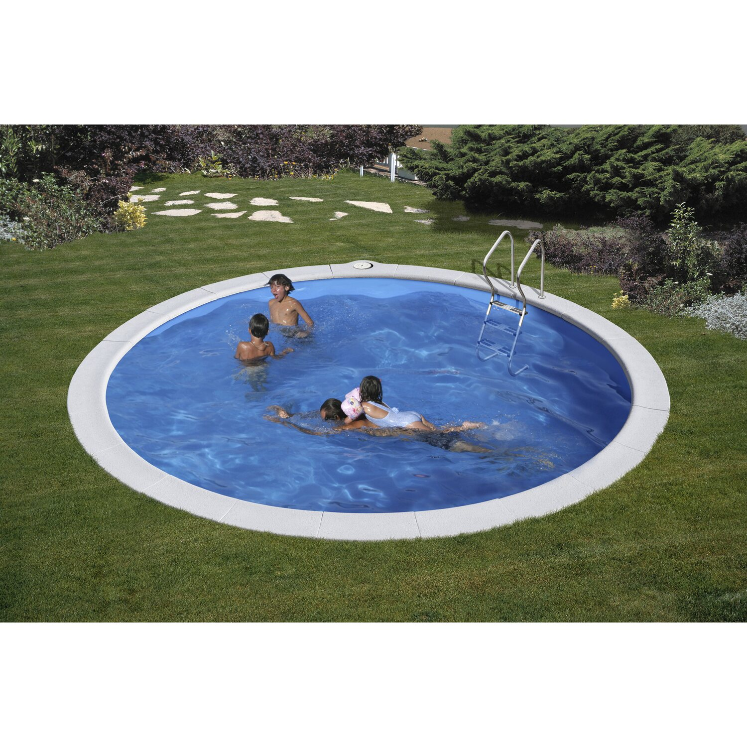 Piscina tonda interrata 420 cm x 150 cm kit completo for Attrezzi piscina