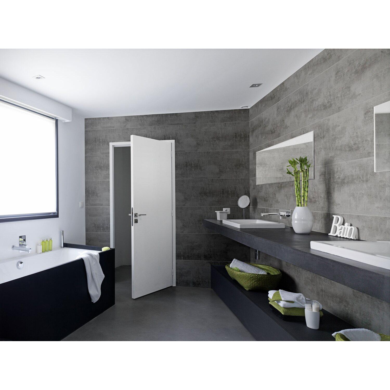 Rivestimento murale decorativo attitude cemento acquista da obi - Lambris pvc salle de bain ...