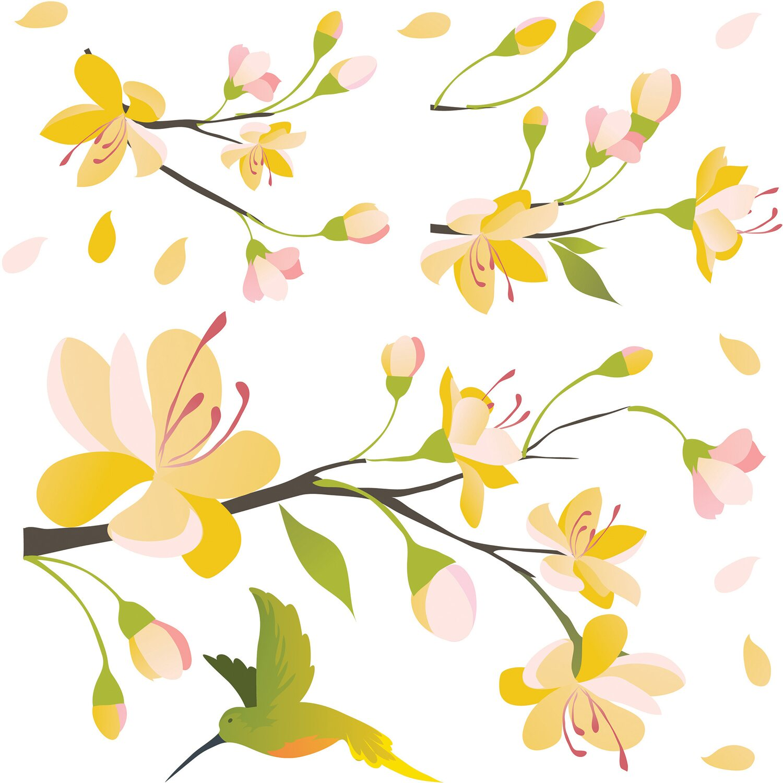 Decorazioni adesive per parete yellow branch acquista da obi for Decorazioni da parete adesive