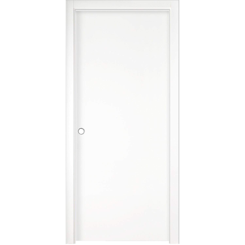 Porta scorrevole reversibile badia bianca 210 cm x 80 cm - Porta scorrevole bianca prezzo ...